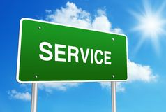 Service road sign Royalty Free Stock Photos