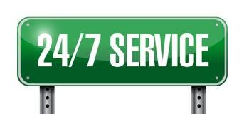 24-7 service road sign concept. Illustration design icon graphic Stock Photo
