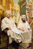 Service in the Russian Orthodox Church. Stock Photography
