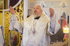 Service in the Russian Orthodox Church. Stock Images