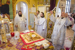 Service in the Russian Orthodox Church. Stock Image