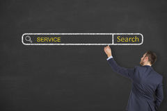 Service Search Engine on Chalkboard Royalty Free Stock Photo