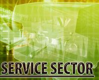 Service sector Abstract concept digital illustration Stock Image