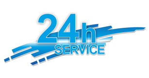 Service sign. Abstract sign for 24 hour service or support Royalty Free Stock Images