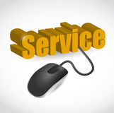 Service sign and mouse illustration Stock Photography