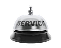 Service sign over service bell Royalty Free Stock Photos