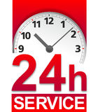 Service sign. Simplified symbol for standby service around the clock Stock Images