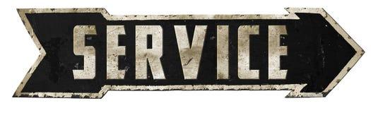 Service Road Sign Arrow Service Mechanic Garage