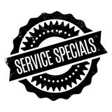 Service Specials rubber stamp Stock Image