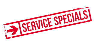 Service Specials rubber stamp Stock Photography