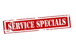 Service specials. Rubber stamp with text service specials inside,  illustration Royalty Free Stock Image