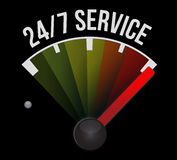 24-7 service speedometer sign concept Stock Photos