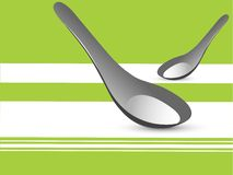 Service spoons Stock Photography