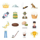 Service, sport, fitness and other web icon in cartoon style.Food, country, animal icons in set collection. Stock Photo