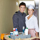 Service staff in hotel Stock Images