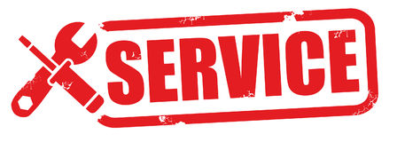 Service stamp  illustration Royalty Free Stock Photography