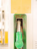 Service Station - Fuel nozzle with copyspace Stock Images