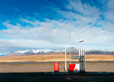 Service station and mountains