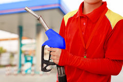 Service station worker royalty free stock photography