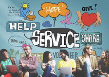 Service Support Assistance Customer Delivery Concept Royalty Free Stock Photography