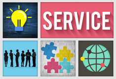 Service Support Customer Satisfaction Assistance Concept Stock Photo