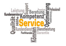 Service support kompetenz (in german support competency) word cl