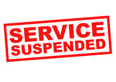SERVICE SUSPENDED Stock Photo