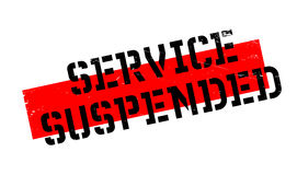 Service Suspended rubber stamp Stock Photo
