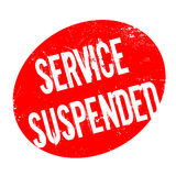 Service Suspended rubber stamp Royalty Free Stock Photography