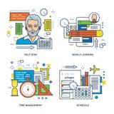 Service SVP, étude mobile, gestion du temps, horaire des classes Photographie stock libre de droits