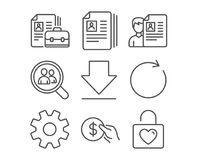 service synchronize and payment icons cv documents downloading