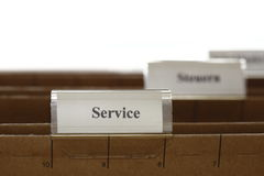 Service tab Stock Photo