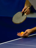 Service on table tennis Stock Photography