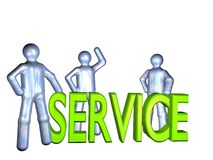Service team Royalty Free Stock Images