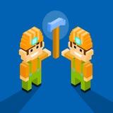 Service Team Hammer för tjänste- arbetare för man teknisk royaltyfri illustrationer