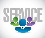 Service team sign illustration design graphic Stock Photo