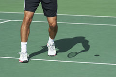 Service in tennis warm up Stock Photography
