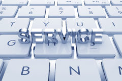 Service text on computed keyboard Stock Images