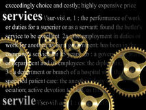 Service-Thema Lizenzfreies Stockbild