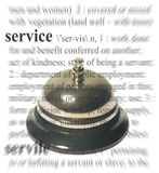 Service Theme. A photo of a bell with a service theme Stock Images