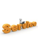 Service. Is to help by people always equipped vector illustration