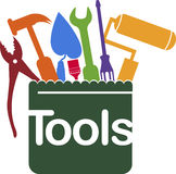 Service tools logo Stock Image