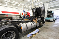 Service trucks royalty free stock image