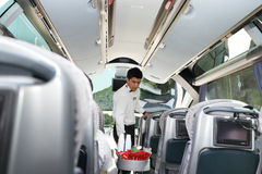 Service in Turkish bus Stock Photography