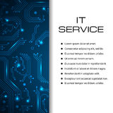 IT service vector banner. Can be used for web design, brochure template. Stock Photo