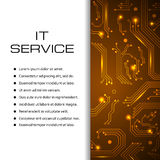 IT service vector banner. Can be used for web design, brochure template. Stock Photography