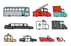 Service vehicle set Stock Image