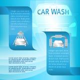 Service-voiture-lavage-bannière-calibre Photo stock