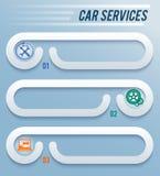 Service-voiture-réparation-atelier-horizontal-bannière Images stock