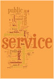 Service word cloud Stock Photography